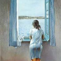 """Girl Standing At The Window,"" by Salvador (""Madman"") Dali"