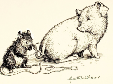 One of Garth Williams original illustrations for Charlott's Web.